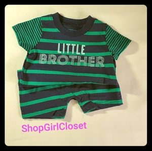 Carter's Brother Romper Blue/Green sz 0-3M